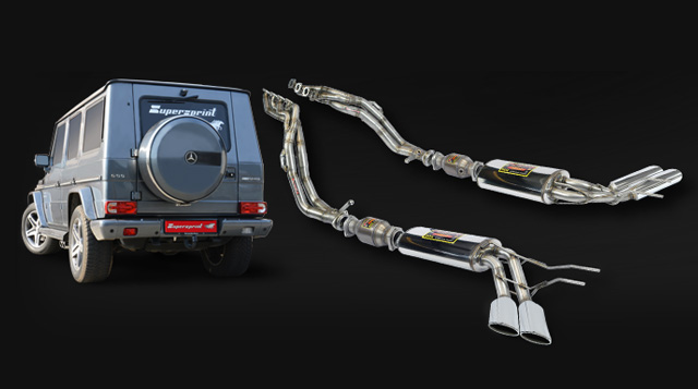 New Full Exhaust System For Mercedes G55 AMG