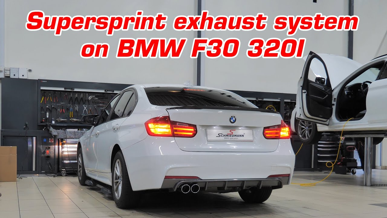 BMW F30 320I with Supersprint exhaust system