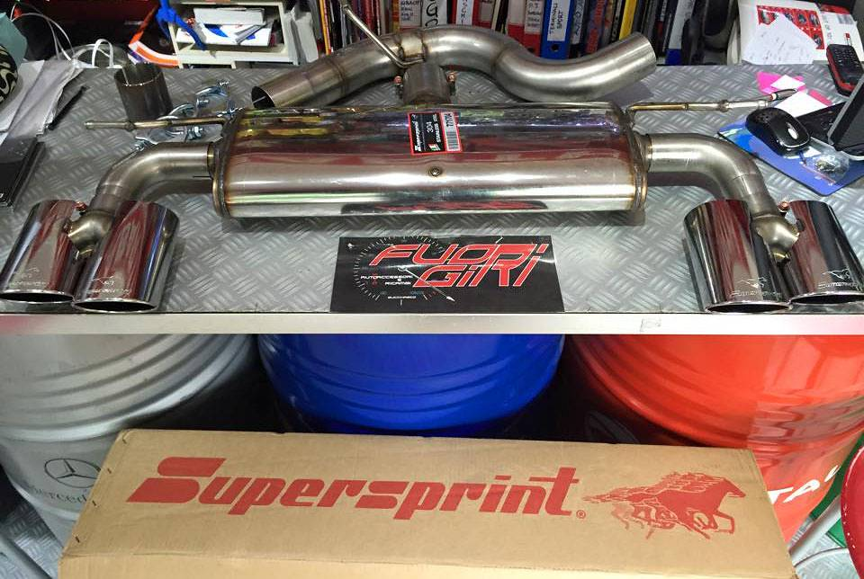 771813 + 771804 + 771727 Supersprint sport exhaust on Golf mk7 r