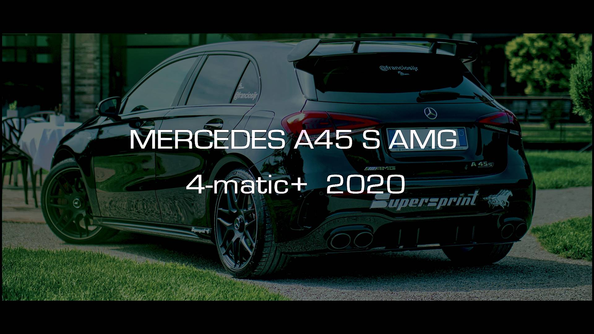 Supersprint exhaust for MERCEDES W177 A 45 S AMG 4-Matic+ (2.0T - 421 Hp) 2020 -> (with valve)