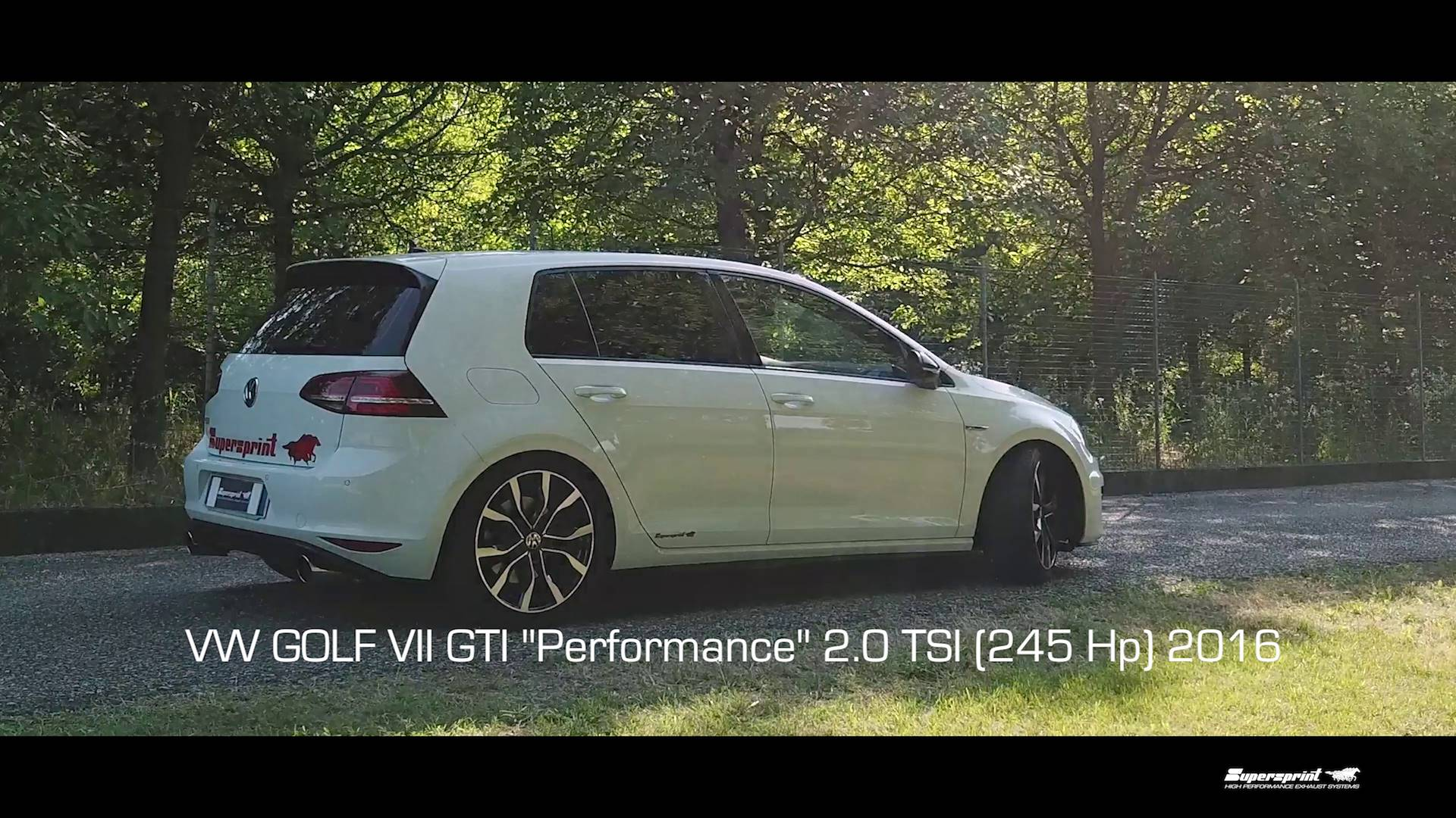 "Supersprint exhaust for VW GOLF VII GTI ""Performance"" 2.0 TSI (245 Hp) 2016"
