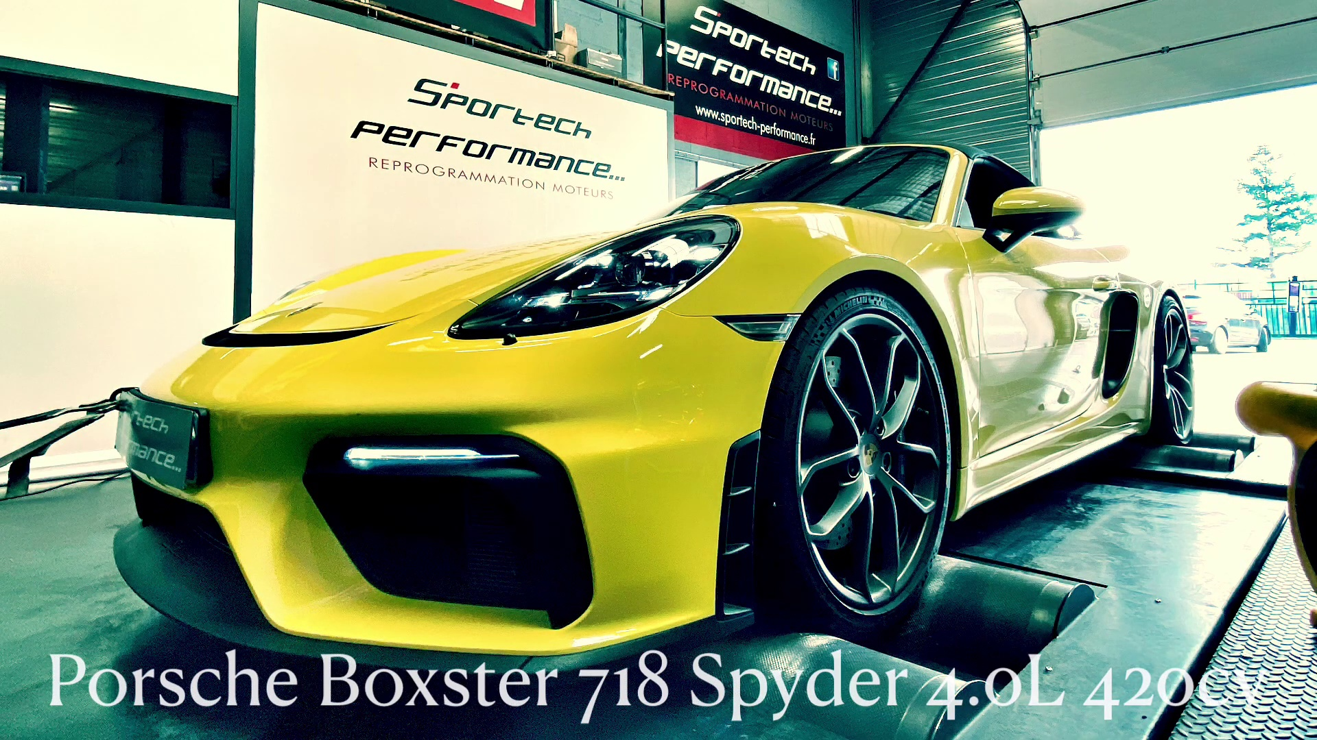 SUPERSPRINT exhaust with valves on Porsche Boxster 718 Spyder 4.0L 420cv