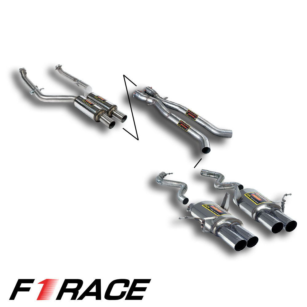 BMW M - BMW E90 Sedan M3 4.0 V8 '07 -> '11 Performance Pack 4: <br> F1 Race (Track), performance exhaust systems